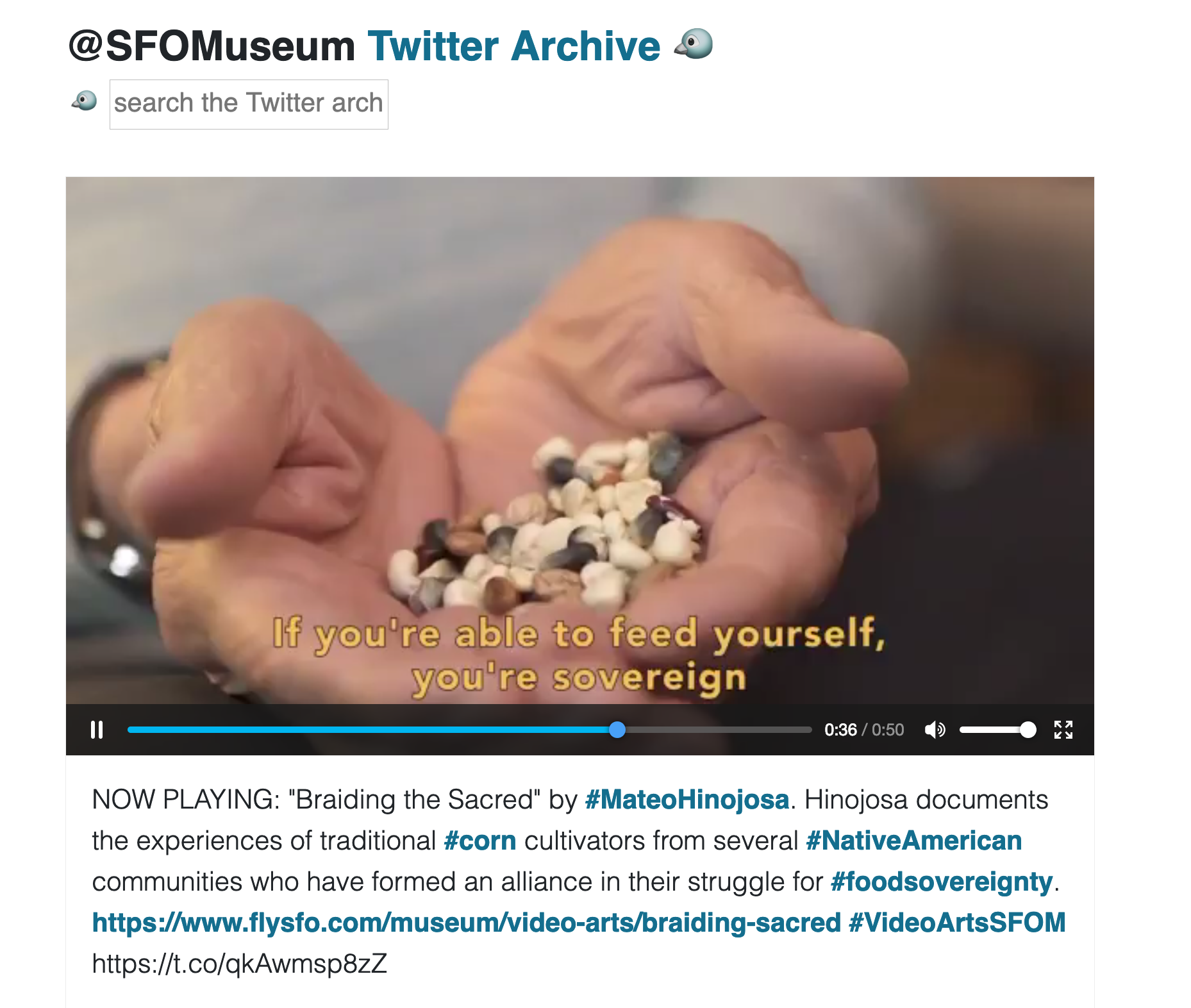 Title image for The @SFOMuseum Twitter Archive